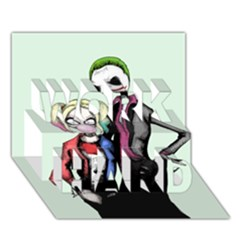 Suicide Nightmare Squad Work Hard 3d Greeting Card (7x5)  by lvbart