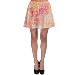 Sunny Floral Watercolor Skater Skirt by KirstenStar