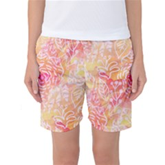 Sunny Floral Watercolor Women s Basketball Shorts by KirstenStar