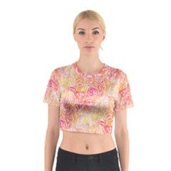 Sunny Floral Watercolor Cotton Crop Top