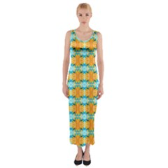 Dragonflies Summer Pattern Fitted Maxi Dress by Costasonlineshop