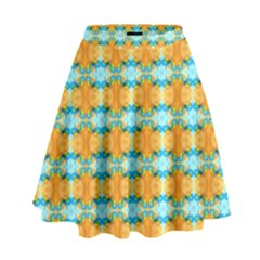 Dragonflies Summer Pattern High Waist Skirt