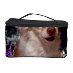 Chi Chi In Flowers, Chihuahua Puppy In Cute Hat Cosmetic Storage Case by DianeClancy