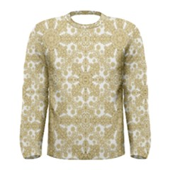 Golden Floral Boho Chic Men s Long Sleeve Tee by dflcprintsclothing