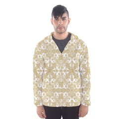 Golden Floral Boho Chic Hooded Wind Breaker (men)