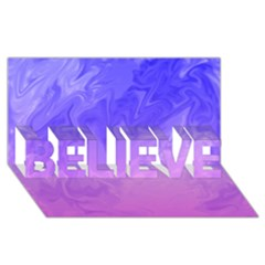Ombre Purple Pink Believe 3d Greeting Card (8x4)  by BrightVibesDesign