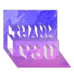 Ombre Purple Pink Thank You 3d Greeting Card (7x5)  by BrightVibesDesign