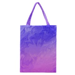 Ombre Purple Pink Classic Tote Bag by BrightVibesDesign