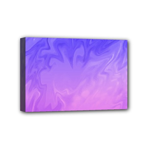Ombre Purple Pink Mini Canvas 6  X 4  by BrightVibesDesign