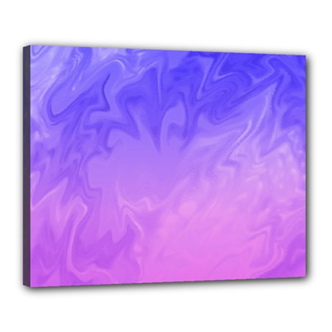 Ombre Purple Pink Canvas 20  X 16  by BrightVibesDesign