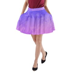 Ombre Purple Pink A Line Pocket Skirt by BrightVibesDesign