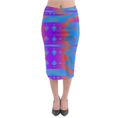 Triangles Gradient                                                               Midi Pencil Skirt by LalyLauraFLM