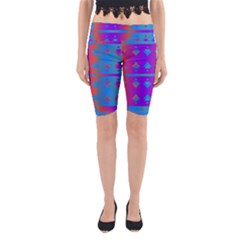 Triangles Gradient                                                             Yoga Cropped Leggings