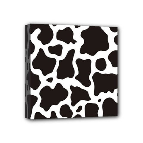 Cow Pattern Mini Canvas 4  X 4  by sifis