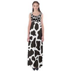 Cow Pattern Empire Waist Maxi Dress