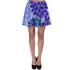 Azurite Blue Flowers Skater Skirt by KirstenStar