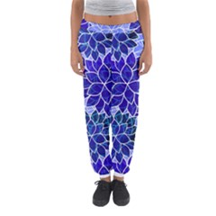 Azurite Blue Flowers Women s Jogger Sweatpants