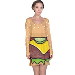 Cheeseburger Long Sleeve Nightdress by sifis