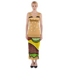 Cheeseburger Fitted Maxi Dress by sifis