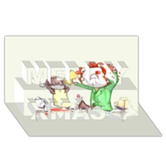 Mud Pies  Merry Xmas 3d Greeting Card (8x4)