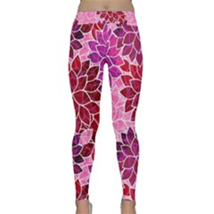 Rose Quartz Flowers Yoga Leggings by KirstenStar