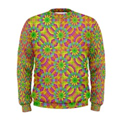 Modern Colorful Geometric Men s Sweatshirt by dflcprintsclothing