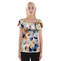 Lee Abstract Women s Cap Sleeve Top by LisaGuenDesign