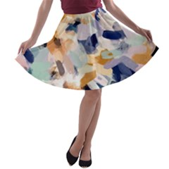 Lee Abstract A Line Skater Skirt by LisaGuenDesign