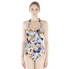 Lee Abstract Women s Halter One Piece Swimsuit