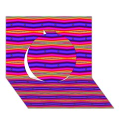 Bright Pink Purple Lines Stripes Circle 3d Greeting Card (7x5)  by BrightVibesDesign
