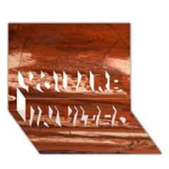 Red Earth Natural You Are Invited 3d Greeting Card (7x5)  by UniqueCre8ion