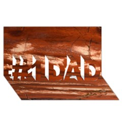 Red Earth Natural #1 Dad 3d Greeting Card (8x4)  by UniqueCre8ion