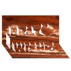 Red Earth Natural Best Wish 3d Greeting Card (8x4)  by UniqueCre8ion