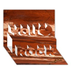 Red Earth Natural You Rock 3d Greeting Card (7x5)  by UniqueCre8ion