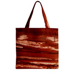 Red Earth Natural Zipper Grocery Tote Bag by UniqueCre8ion