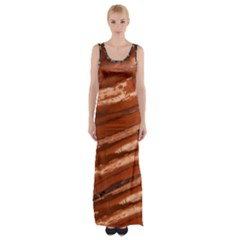 Red Earth Natural Maxi Thigh Split Dress