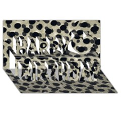 Metallic Camouflage Happy Birthday 3d Greeting Card (8x4)