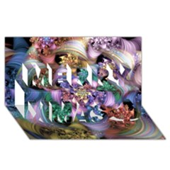 Bright Taffy Spiral Merry Xmas 3d Greeting Card (8x4)  by WolfepawFractals