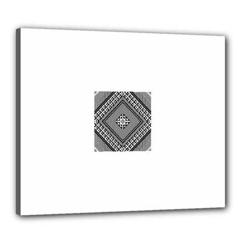 Geometric Pattern Vector Illustration Myxk9m   Canvas 24  X 20  by dsgbrand