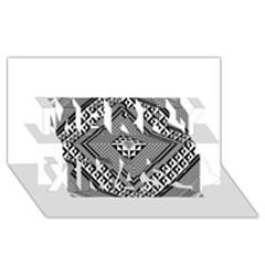 Geometric Pattern Vector Illustration Myxk9m   Merry Xmas 3d Greeting Card (8x4)