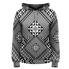 Geometric Pattern Vector Illustration Myxk9m   Women s Pullover Hoodie by dsgbrand