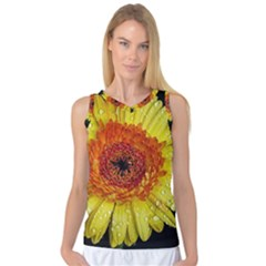 Yellow Flower Close Up Women s Basketball Tank Top by MichaelMoriartyPhotography