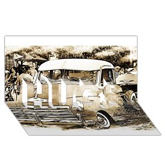 Vintage Chevrolet Pick Up Truck Hugs 3d Greeting Card (8x4)  by MichaelMoriartyPhotography