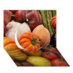 Heirloom Tomatoes Circle 3d Greeting Card (7x5)  by MichaelMoriartyPhotography