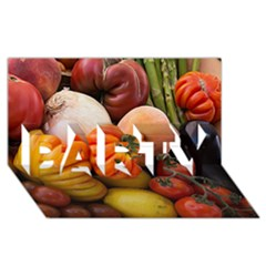 Heirloom Tomatoes Party 3d Greeting Card (8x4)  by MichaelMoriartyPhotography