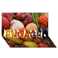 Heirloom Tomatoes Engaged 3d Greeting Card (8x4)  by MichaelMoriartyPhotography