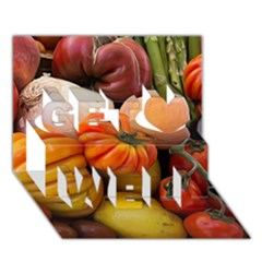 Heirloom Tomatoes Get Well 3d Greeting Card (7x5)  by MichaelMoriartyPhotography