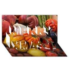Heirloom Tomatoes Merry Xmas 3d Greeting Card (8x4)  by MichaelMoriartyPhotography