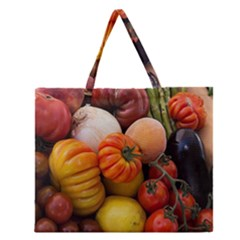 Heirloom Tomatoes Zipper Large Tote Bag by MichaelMoriartyPhotography