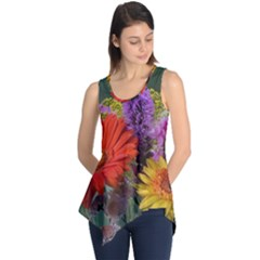 Colorful Flowers Sleeveless Tunic